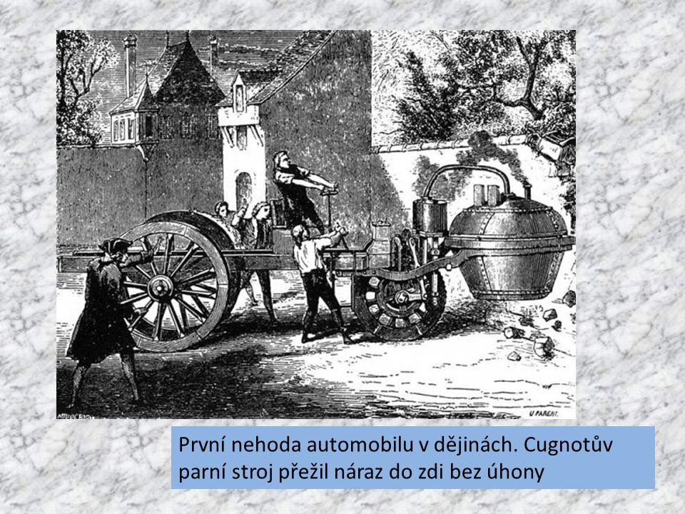 První nehoda automobilu v dějinách