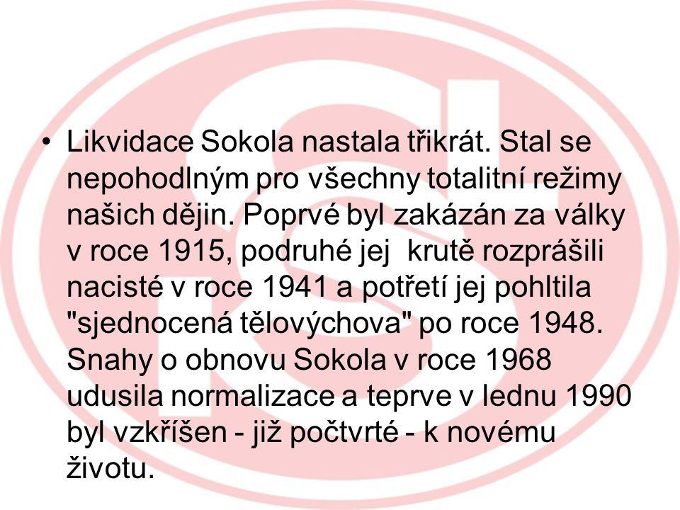 Likvidace Sokola nastala třikrát