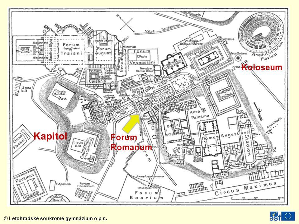 Koloseum Kapitol Forum Romanum