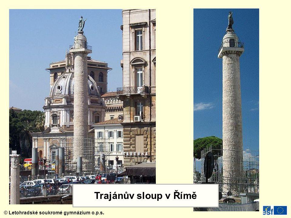 Trajánův sloup je pomník, postavený ke cti císaře Trajána na Trajánově fóru blízko Kvirinálu v Římě, severně od Foru Romanu. Je to jedna z nejslavnějších památek starověkého římského stavitelství a sochařství. Podle nápisu jej dal postavit římský senát, stavbu patrně vedl architekt Apollodóros z Damašku a byla dokončena roku 113.