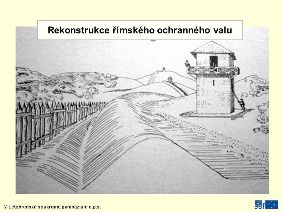 Rekonstrukce římského ochranného valu