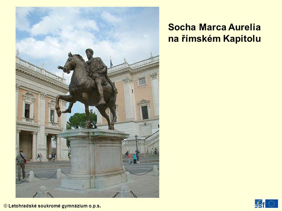 Socha Marca Aurelia na římském Kapitolu