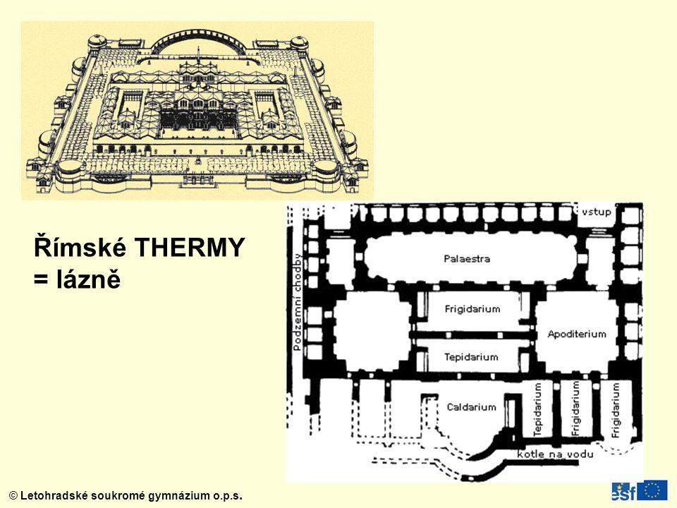 Římské THERMY = lázně
