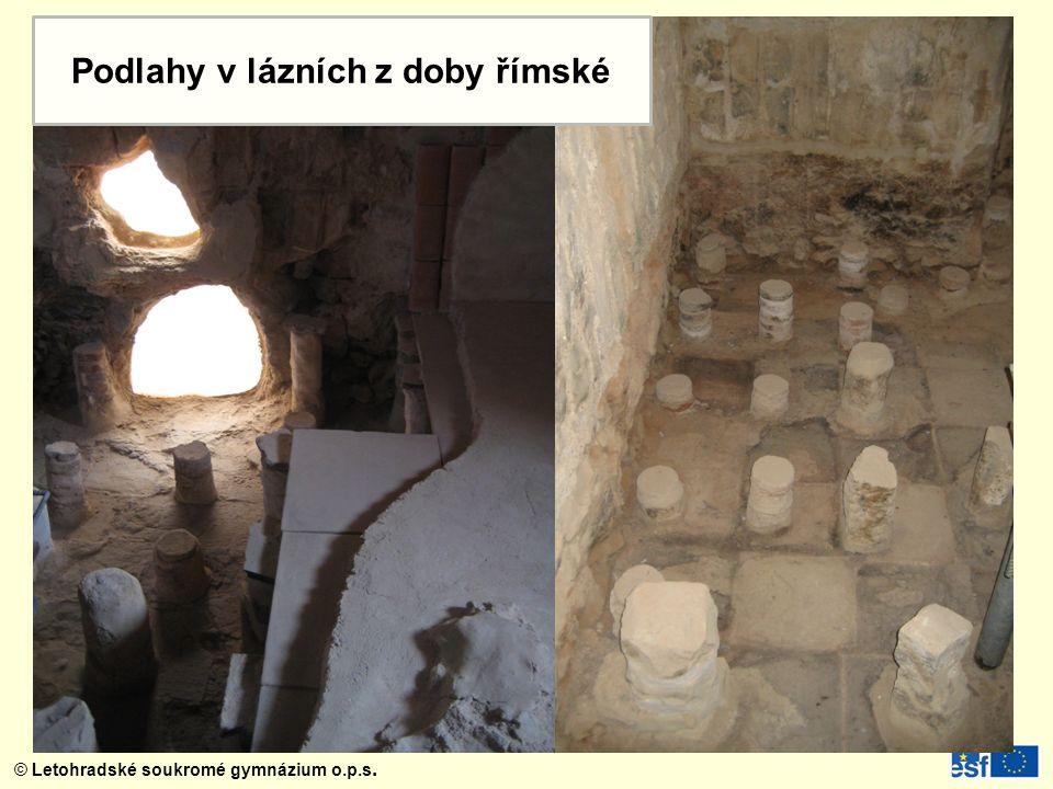 Podlahy v lázních z doby římské