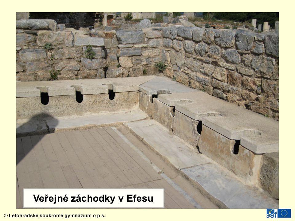 Veřejné záchodky v Efesu