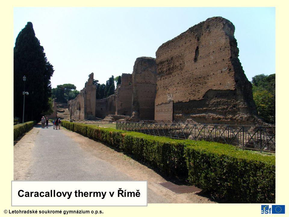 Caracallovy thermy v Římě