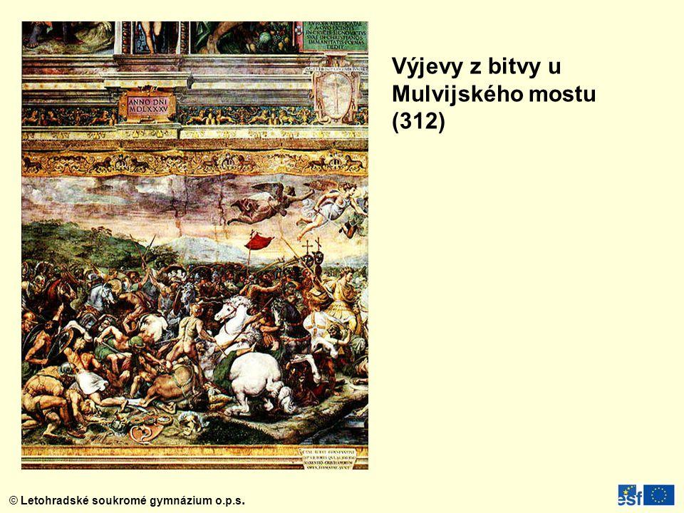 Výjevy z bitvy u Mulvijského mostu (312)