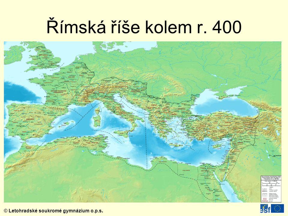 Římská říše kolem r. 400