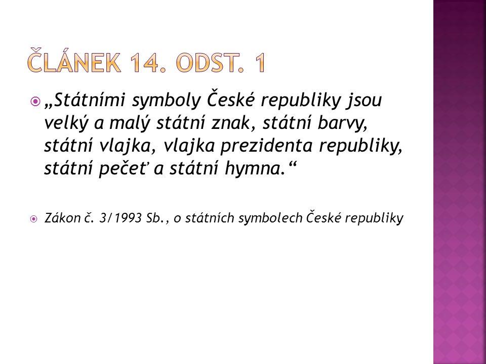 Článek 14. odst. 1