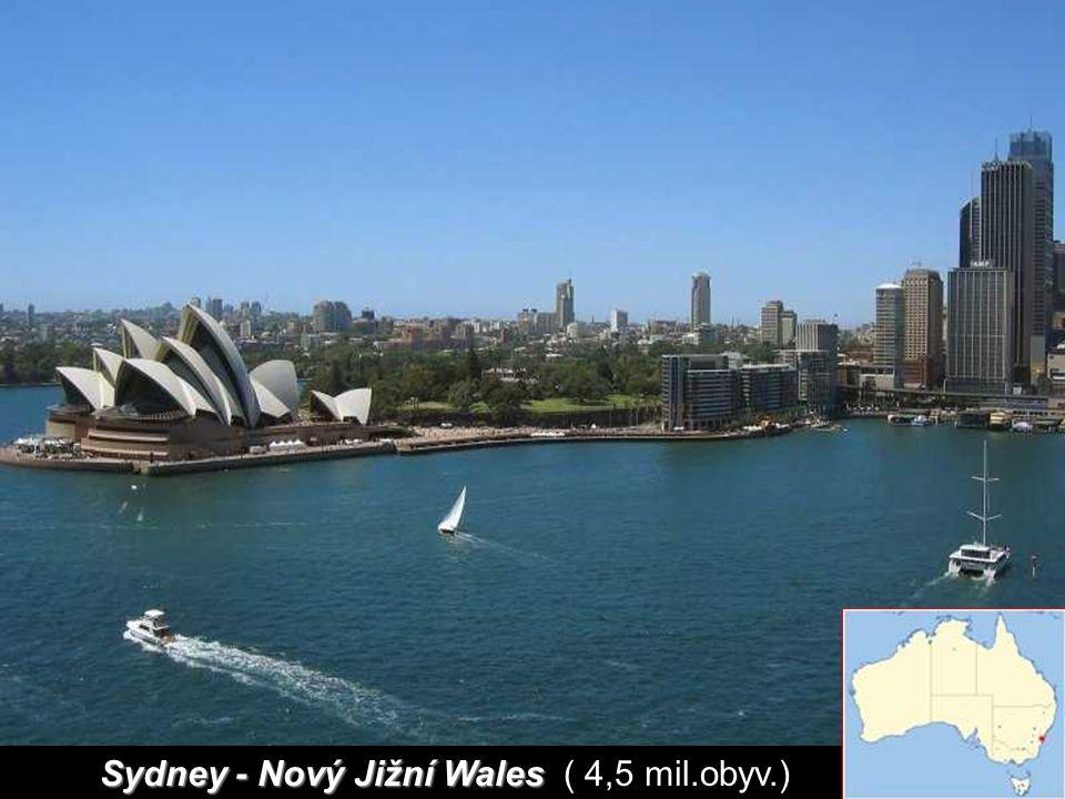 Sydney - Nový Jižní Wales ( 4,5 mil.obyv.)