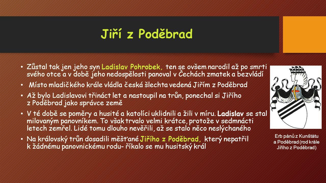 Erb pánů z Kunštátu a Poděbrad (rod krále Jiřího z Poděbrad)