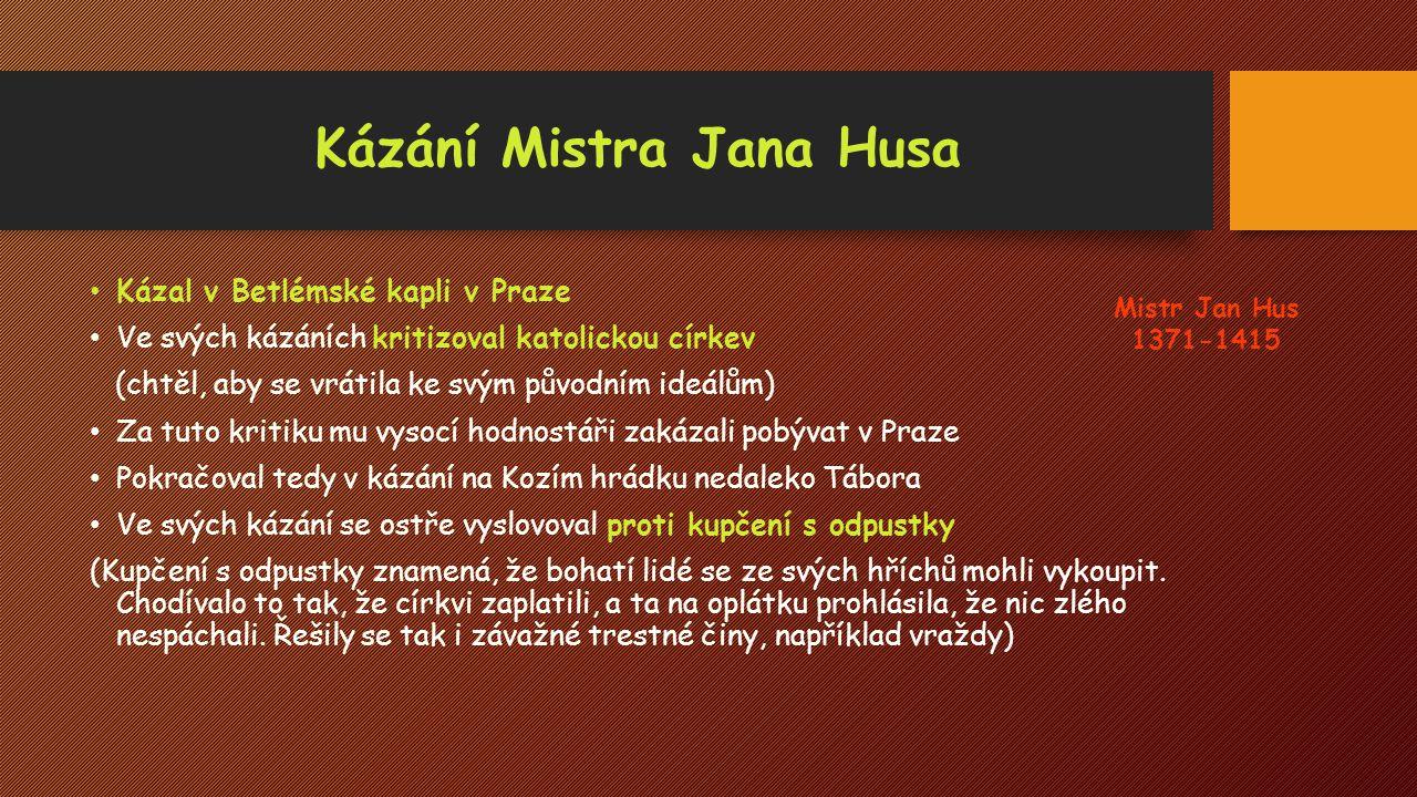 Kázání Mistra Jana Husa