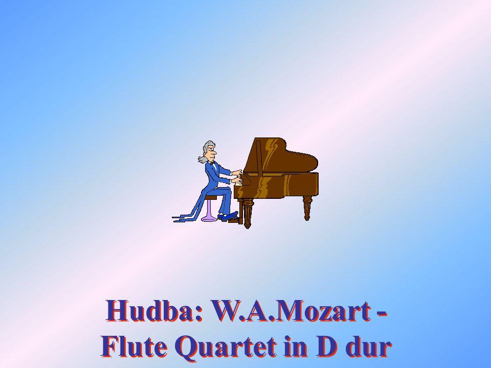 Hudba: W.A.Mozart - Flute Quartet in D dur