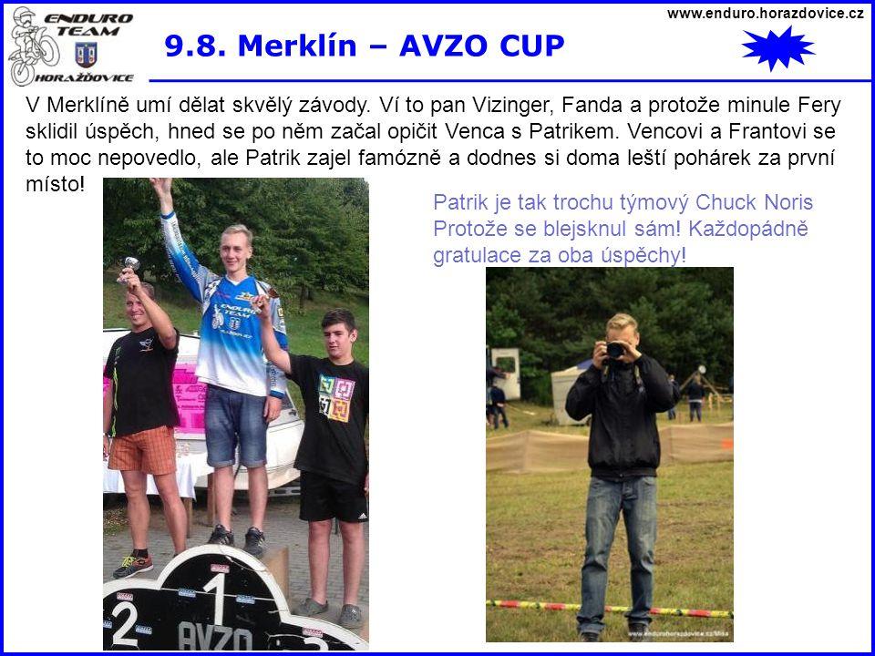 www.enduro.horazdovice.cz 9.8. Merklín – AVZO CUP.