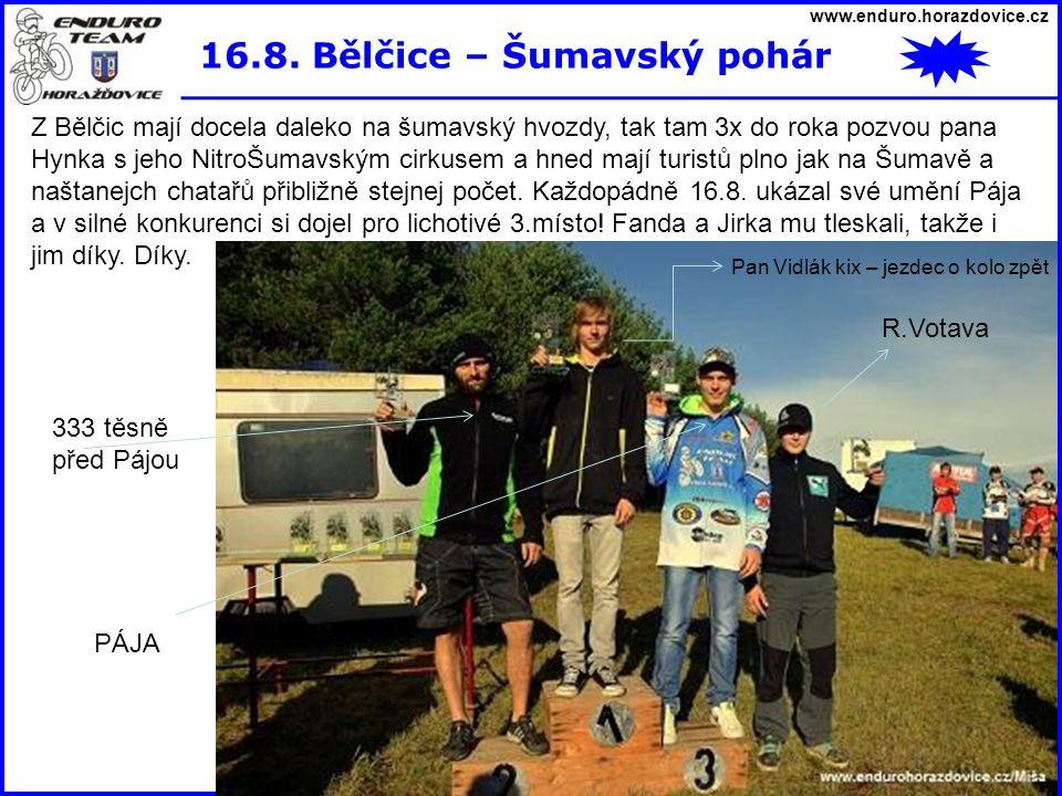 16.8. Bělčice – Šumavský pohár