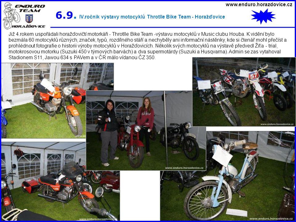 6.9. IV.ročník výstavy motocyklů Throtlle Bike Team - Horažďovice