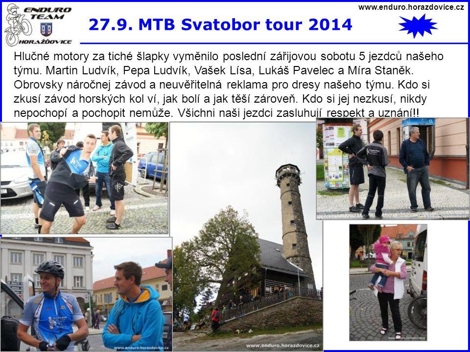 www.enduro.horazdovice.cz 27.9. MTB Svatobor tour 2014.