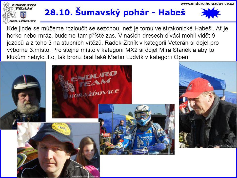 www.enduro.horazdovice.cz 28.10. Šumavský pohár - Habeš.