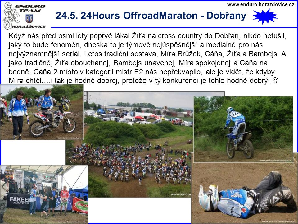 24.5. 24Hours OffroadMaraton - Dobřany