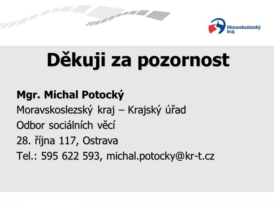 Děkuji za pozornost Mgr. Michal Potocký