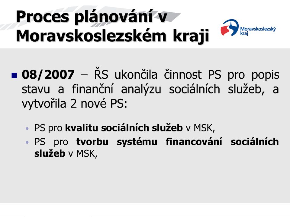 Proces plánování v Moravskoslezském kraji