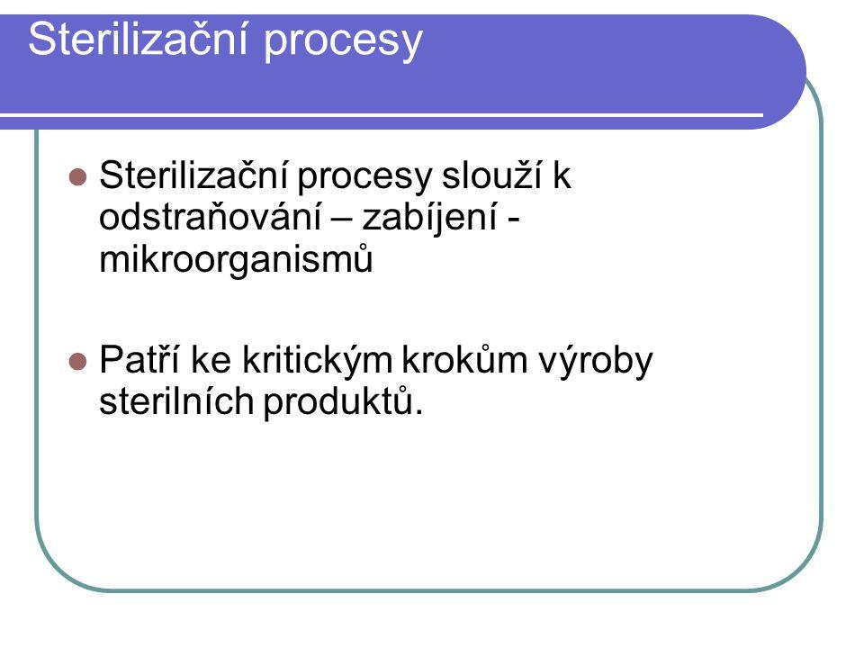 Sterilizační procesy Sterilizační procesy slouží k odstraňování – zabíjení - mikroorganismů.
