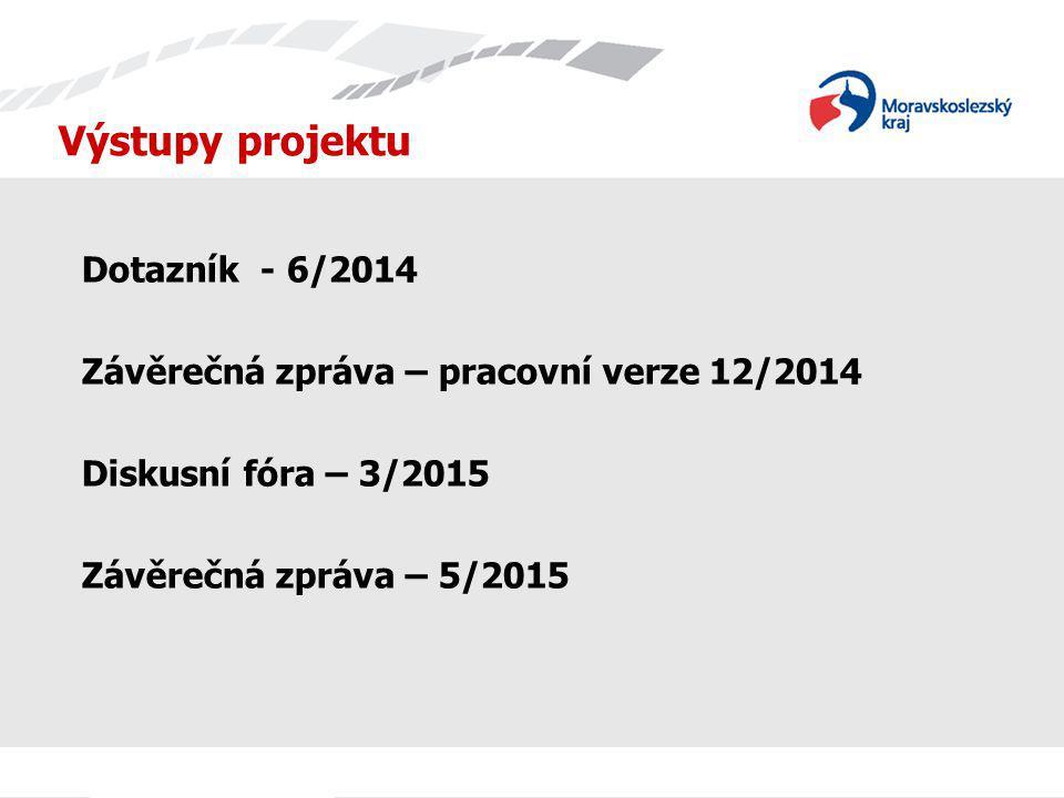 Výstupy projektu Dotazník - 6/2014