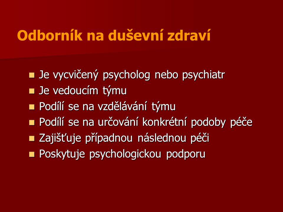 Odborník na duševní zdraví
