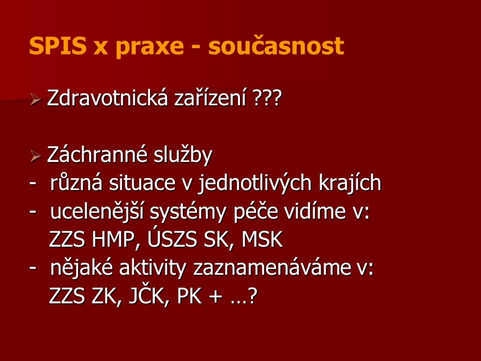 SPIS x praxe - současnost