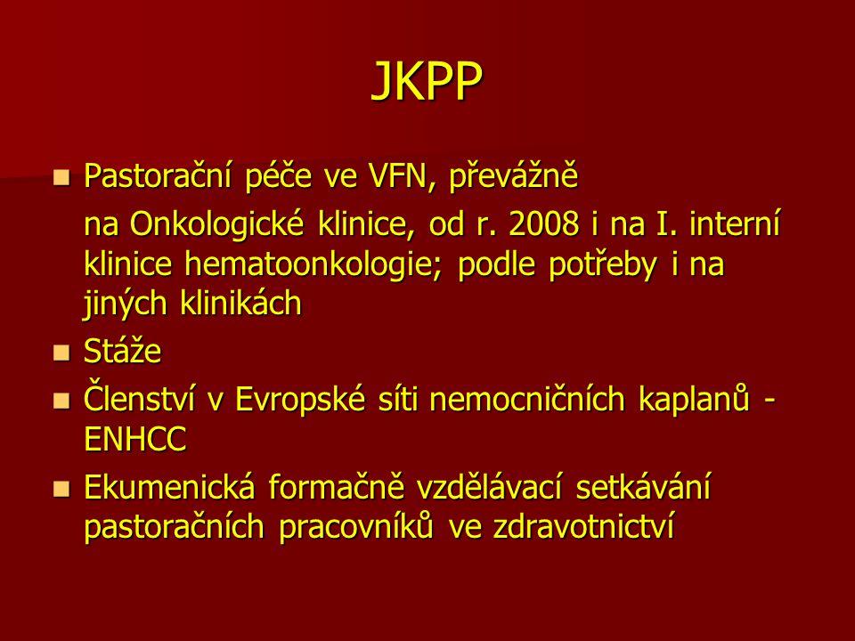 JKPP Pastorační péče ve VFN, převážně