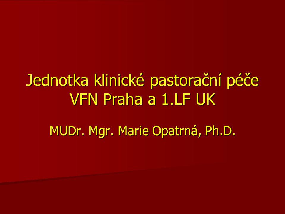 Jednotka klinické pastorační péče VFN Praha a 1.LF UK