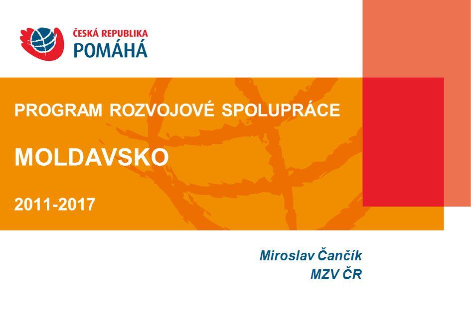 PROGRAM ROZVOJOVÉ SPOLUPRÁCE MOLDAVSKO 2011-2017