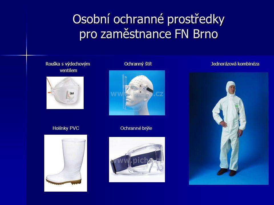 Osobní ochranné prostředky pro zaměstnance FN Brno