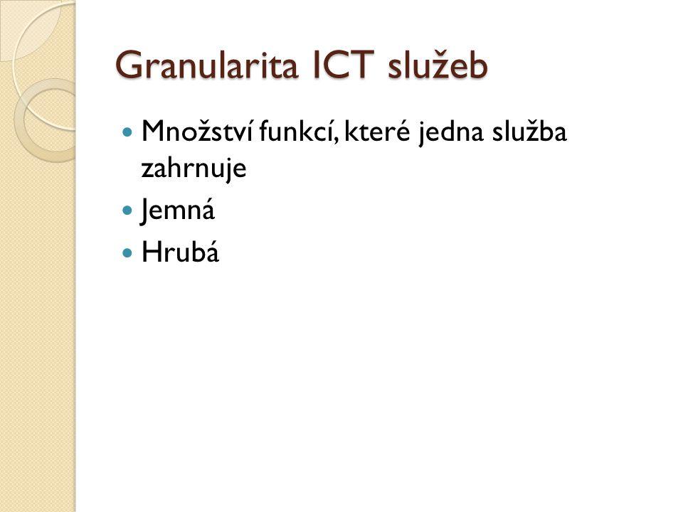 Granularita ICT služeb