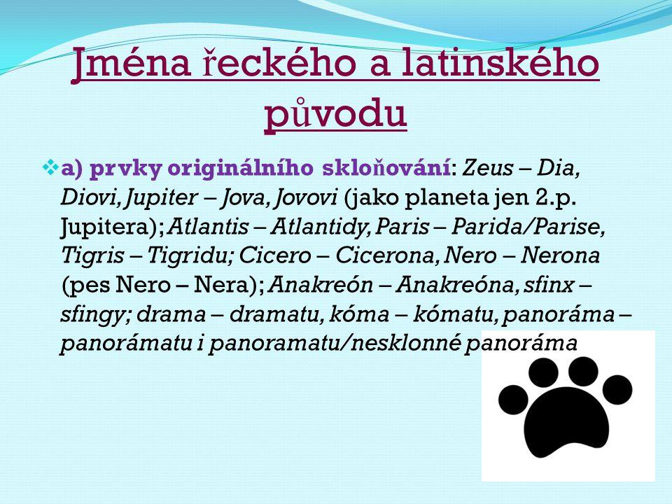 Jména řeckého a latinského původu