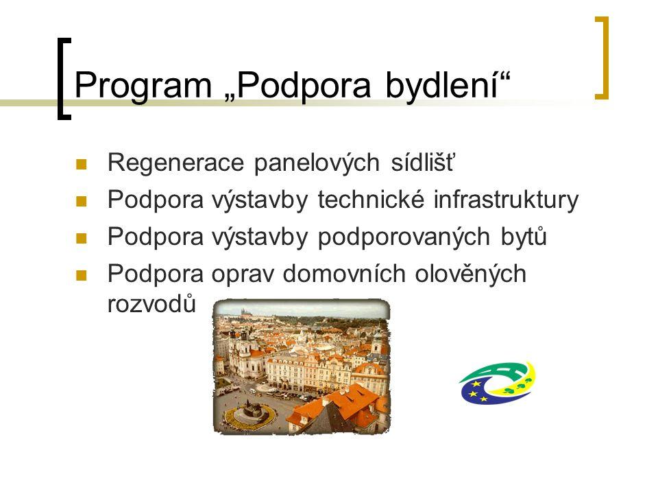 """Program """"Podpora bydlení"""