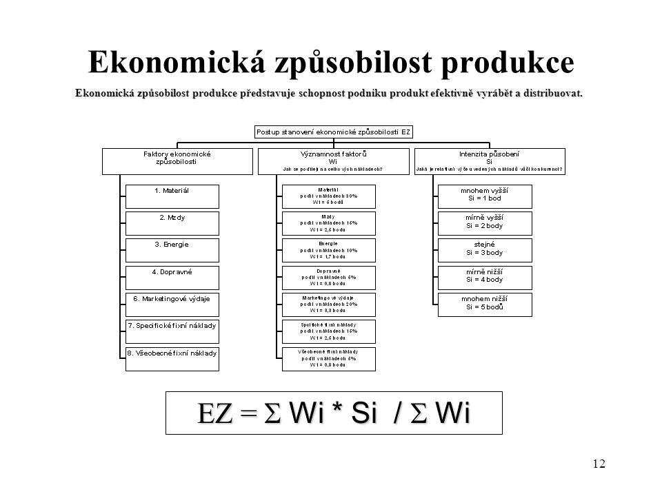 Ekonomická způsobilost produkce