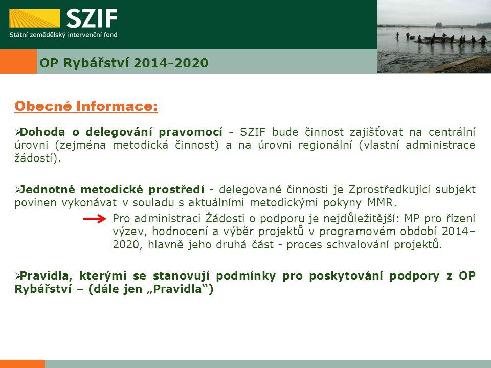 Obecné Informace: OP Rybářství 2014-2020