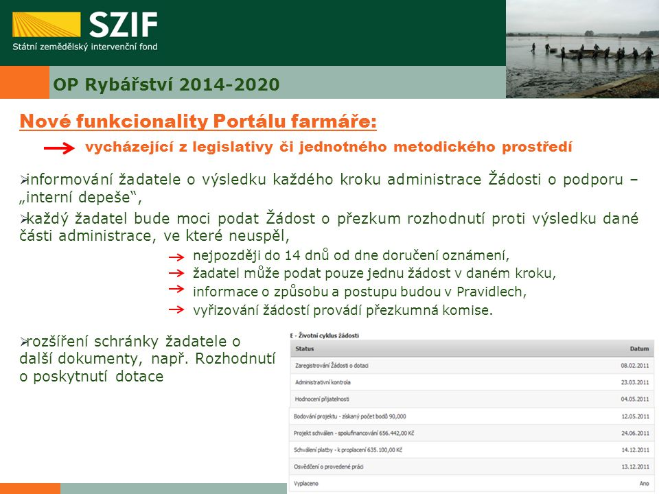 Nové funkcionality Portálu farmáře: