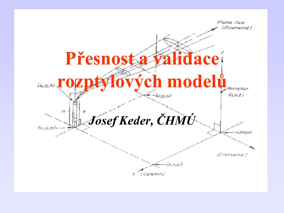 Přesnost a validace rozptylových modelů Josef Keder, ČHMÚ