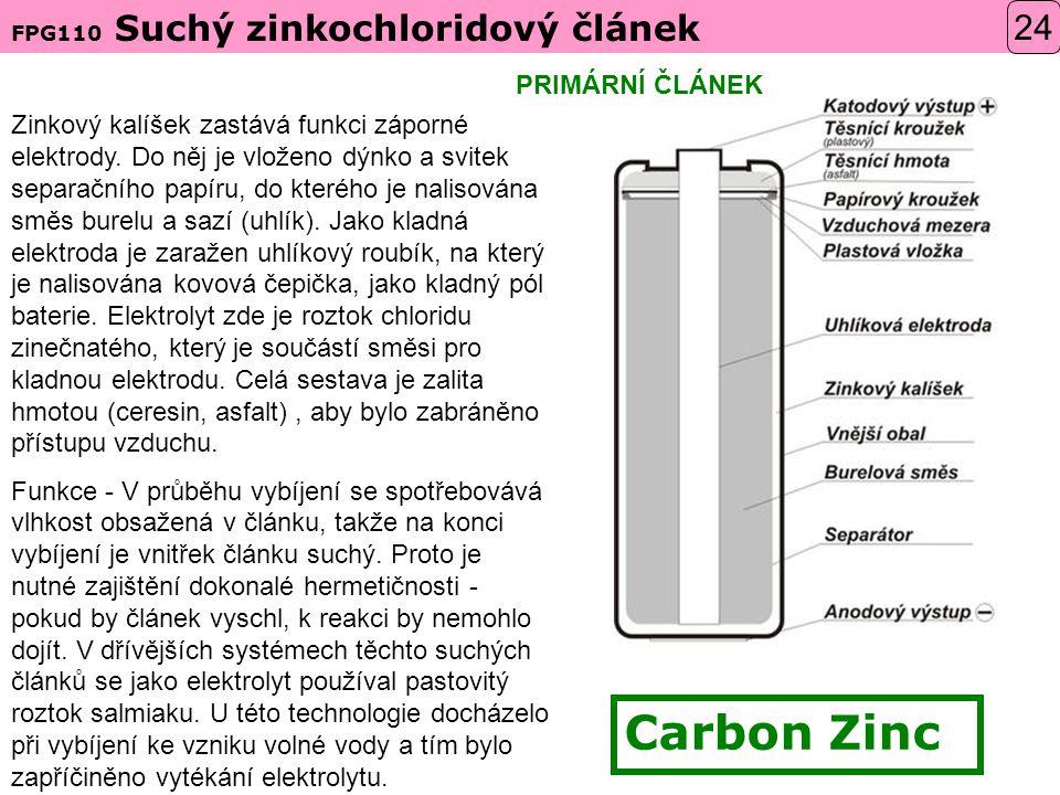 Carbon Zinc 24 PRIMÁRNÍ ČLÁNEK