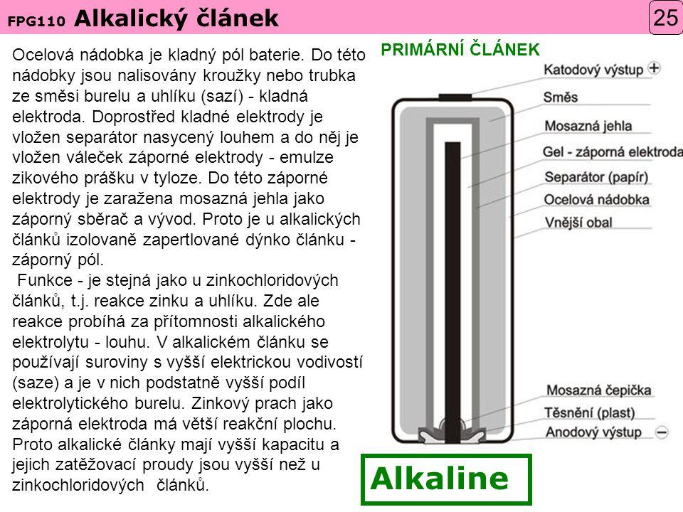 Alkaline 25 PRIMÁRNÍ ČLÁNEK