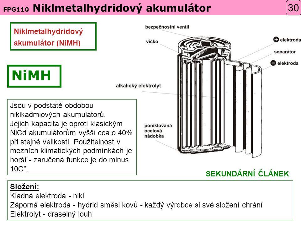 NiMH 30 Niklmetalhydridový akumulátor (NiMH)