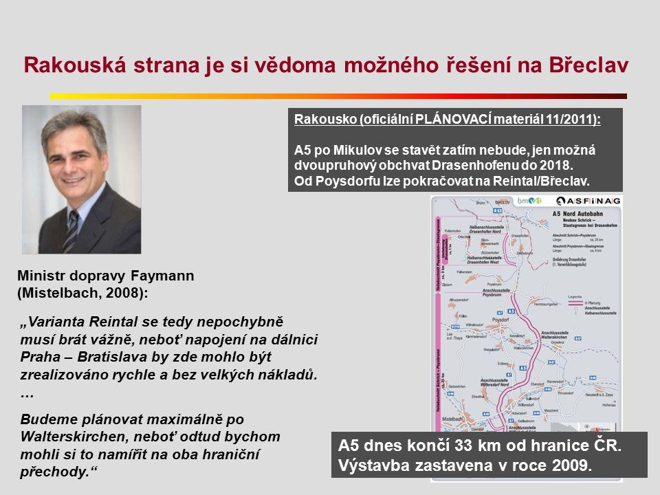 Rakouská strana je si vědoma možného řešení na Břeclav