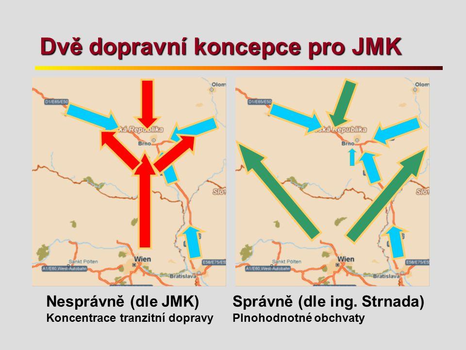 Dvě dopravní koncepce pro JMK