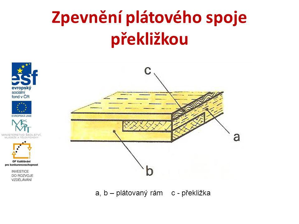 Zpevnění plátového spoje překližkou