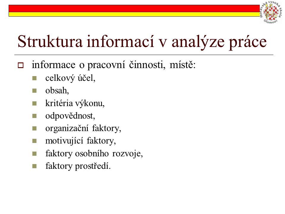 Struktura informací v analýze práce