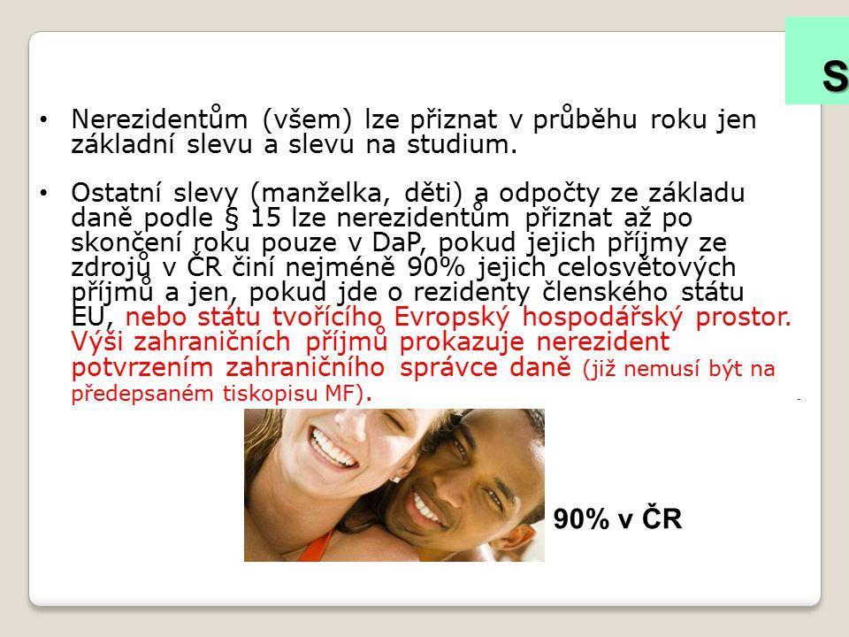 Slevy na dani – nerezidentů § 35ba/2