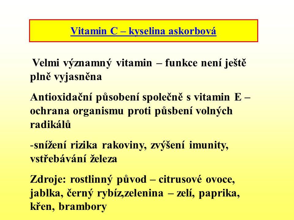 Vitamin C – kyselina askorbová