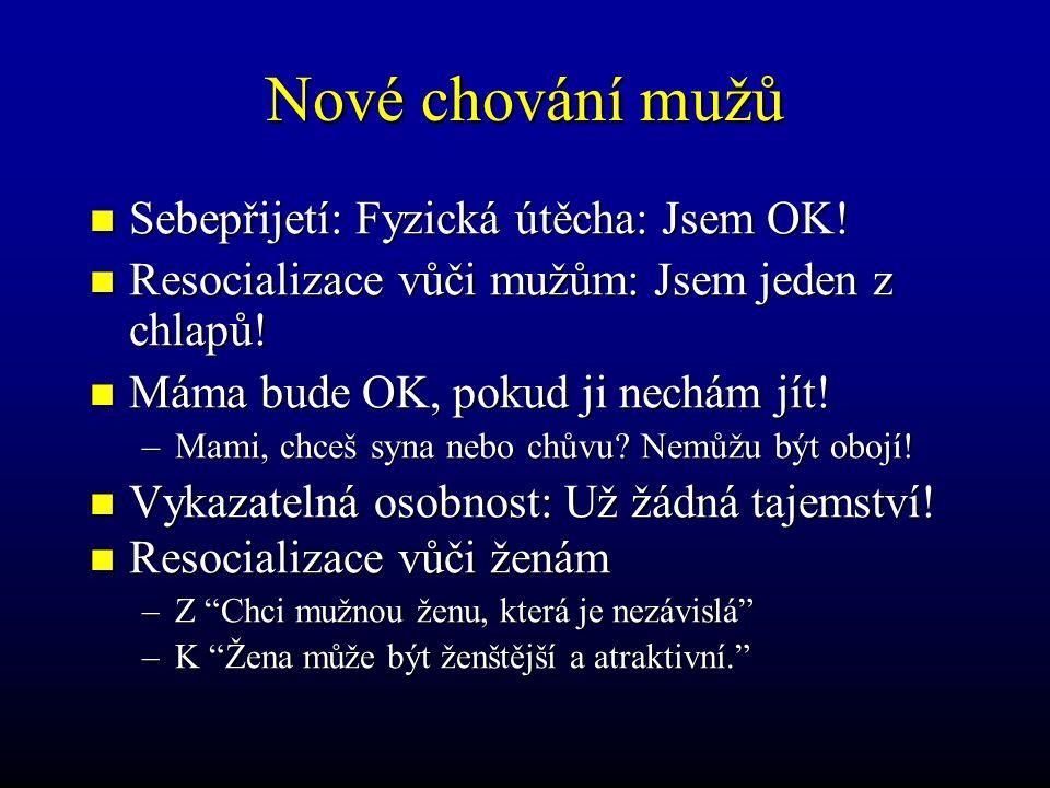 Nové chování mužů Sebepřijetí: Fyzická útěcha: Jsem OK!